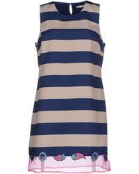 Frankie Morello Short Dress blue - Lyst