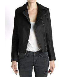 James Jeans Moto Denim Jacket - Lyst