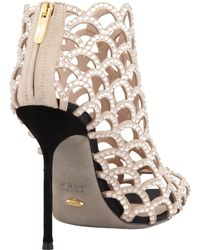 Sergio Rossi Caged Crystal Bootie - Lyst