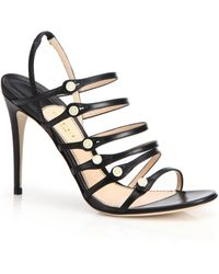 Gucci | Aneta Strappy Leather Sandals | Lyst