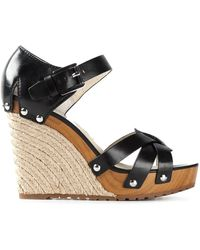 MICHAEL Michael Kors Somerly Leather Wedges - Lyst