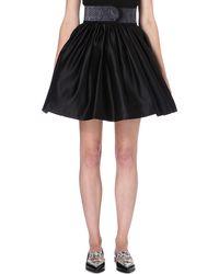 Christopher Kane Pythonprint Flared Skirt Black - Lyst