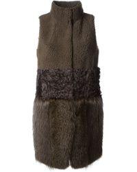 Meteo By Yves Salomon Lamb and Marmot Fur Long Vest - Lyst