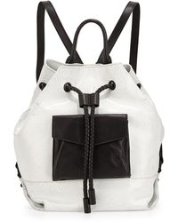 L.A.M.B. Gracie Colorblock Leather Backpack white - Lyst