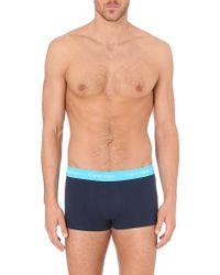 Calvin Klein Three Pack Stretchcotton Trunks Black - Lyst