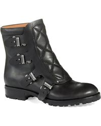 Marc By Marc Jacobs Black Buckle Boots - Lyst
