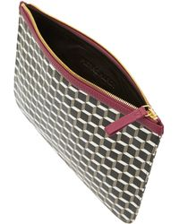 Pierre Hardy Large Pink Geo Cube Print Pouch - Lyst