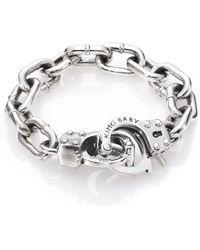 King Baby Studio Handcuff Clasp Bracelet - Lyst