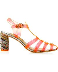 Sophia Webster Rosa Jelly Block-Heel Sandals - Lyst