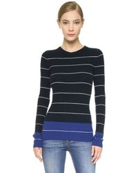 Maiyet - Striped Cashmere Sweater - White/blue Stripe - Lyst