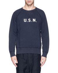 NLST - 'U.S.N.' Print Cotton Sweatshirt - Lyst