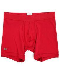 Lacoste Red Pique Cotton Boxer Shorts - Lyst