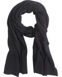 J.Crew Collection Cashmere Ribbed Scarf - Lyst