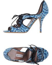 Tabitha Simmons Blue Sandals - Lyst