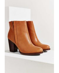 Silence + Noise - Half-stacked Heeled Ankle Boot - Lyst