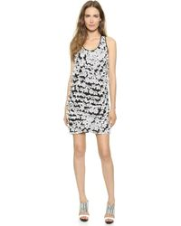 Tess Giberson - Lasercut Floral Dress - Speckled White Floral - Lyst