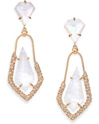 Alexis Bittar Miss Havisham Mosaic Mother-Of-Pearl & Crystal Snake Chain Drop Earrings - Lyst