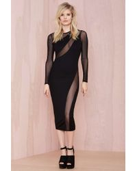Nasty Gal Swerve Out Midi Dress - Lyst