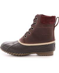 Sorel Cheyanne Full Grain Boots - Lyst