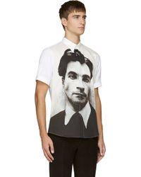Alexander McQueen White Lucian Freud Shirt - Lyst