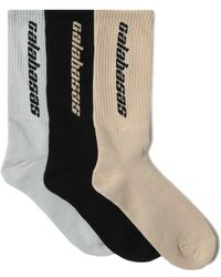 Yeezy - Calabasas 3 Pack Socks - Lyst