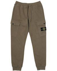 Stone Island - Fleece Pants 691561120 - Lyst