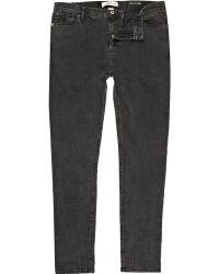 River Island Sid Stretch Skinny Jeans - Lyst