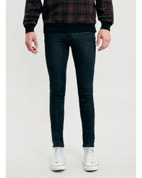 Topman Rinse Blue Ziggy Super Spray On Jeans - Lyst
