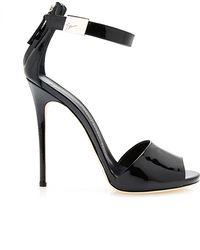Giuseppe Zanotti Coline Patent-Leather Sandals - Lyst