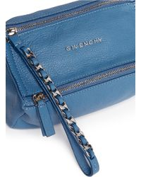 Givenchy 'Pandora' Leather Wristlet Pouch blue - Lyst