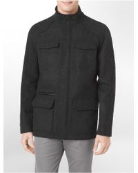 Calvin Klein White Label 4-Pocket Wool Blend Zip Front Jacket - Lyst