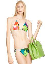 ... Ralph Lauren Crochet Ricky Top Bikini Green Yellow ...