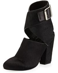 Saint & Libertine Clarity Calf Hair Ankle-Wrap Bootie - Lyst