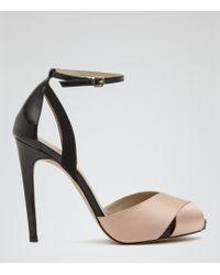 Reiss Cece Peep-Toe Sandals - Lyst