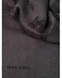 Diesel Gray Printed Scarf - Lyst