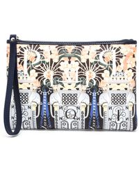 Mary Katrantzou Canvas Flamingo Pouch - Lyst