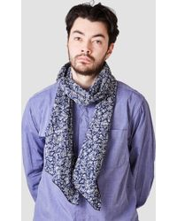 Engineered Garments - Long Scarf Navy Paisley Lawn - Lyst