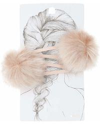 TOPSHOP - Pom Pom Hair Clips - Lyst