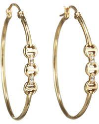 Hoorsenbuhs - Diamond Mini Hoop Earrings - Lyst