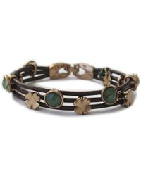Lucky Brand - Jade And Leather Bracelet - Lyst