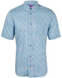 Liberty - Blue Maddock Cotton Shirt - Lyst