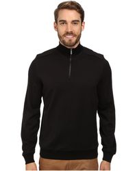 Calvin Klein Jacquard 14 Zip Sweatshirt - Lyst