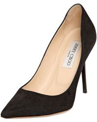 Jimmy Choo 100Mm Abel Suede Pointed Pumps - Lyst