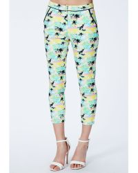 Missguided Ilona Palm Tree Print Trousers - Lyst