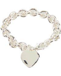 Guess Silver bracelets - Lyst