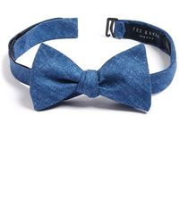 Ted Baker Cotton Bow Tie blue - Lyst