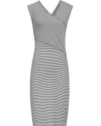 Reiss 1971 Annika Wrap-Front Dress blue - Lyst