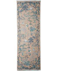 Valentino Oriental Seasons Wool  Silk Scarf - Lyst