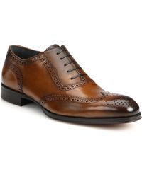 To Boot Duke Burnished Leather Brogue Lace-Up Shoes - Lyst