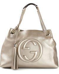 Gucci Logo Shoulder Bag - Lyst